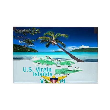 VIRGIN ISLANDS Rectangle Magnet