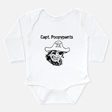 Captain Poopypants Long Sleeve Infant Bodysuit