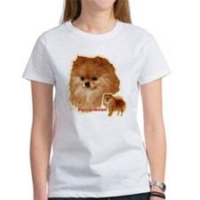 Pomeranian head and body Tee