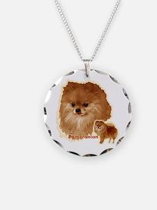 Pomeranian head and body Necklace
