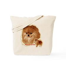 Pomeranian head and body Tote Bag