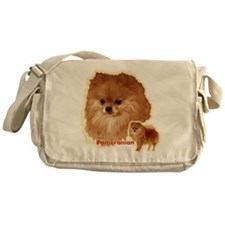 Pomeranian head and body Messenger Bag