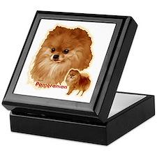 Pomeranian head and body Keepsake Box