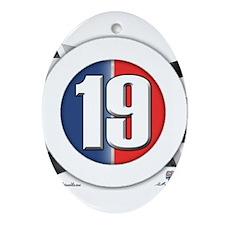 19 Cars Logo Ornament (Oval)