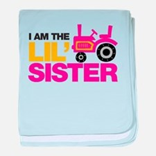 Tractor Little Sister baby blanket