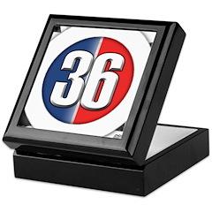 36 Cars Logo Keepsake Box
