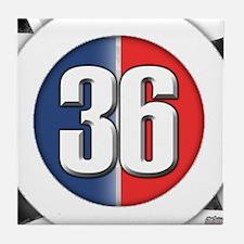 36 Cars Logo Tile Coaster
