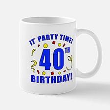 40th Birthday Party Time Small Small Mug