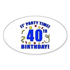 40th Birthday Party Time Decal