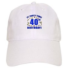 40th Birthday Party Time Baseball Cap