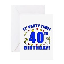 40th Birthday Party Time Greeting Card