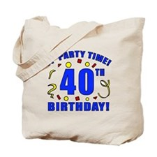 40th Birthday Party Time Tote Bag
