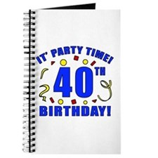40th Birthday Party Time Journal