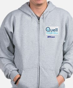 Quell Cell Miami--Zip Hoodie