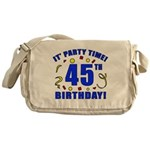 45th Birthday Party Time Messenger Bag