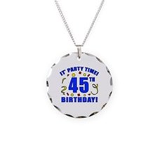 45th Birthday Party Time Necklace