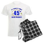 45th Birthday Party Time Men's Light Pajamas
