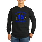 45th Birthday Party Time Long Sleeve Dark T-Shirt