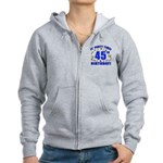 45th Birthday Party Time Women's Zip Hoodie