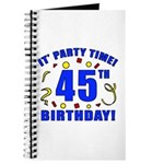 45th Birthday Party Time Journal