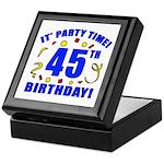 45th Birthday Party Time Keepsake Box