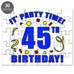 45th Birthday Party Time Puzzle