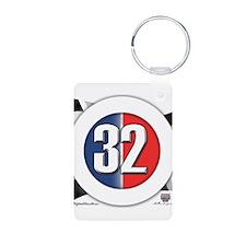 32 Cars Logo Aluminum Photo Keychain