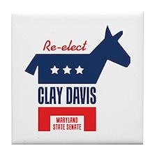 Re-elect Clay Davis Tile Coaster