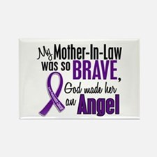 Angel 1 Pancreatic Cancer Rectangle Magnet (10 pac