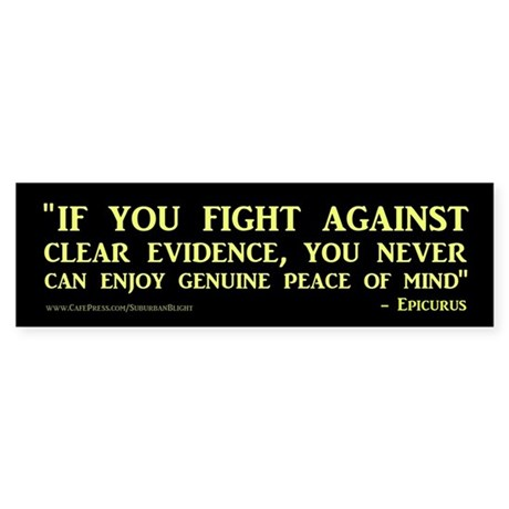 """Clear Evidence"" Sticker (Bumper)"