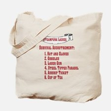 Steampunk Ladies' Checklist Tote Bag