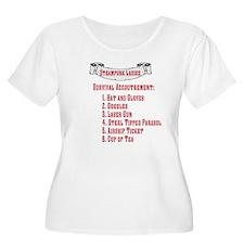 Steampunk Ladie's Checklist W Plus Sz Scoop Neck T