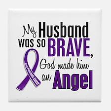 Angel 1 Pancreatic Cancer Tile Coaster