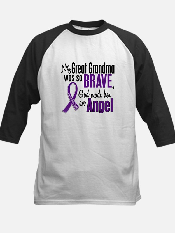 Angel 1 Pancreatic Cancer Kids Baseball Jersey