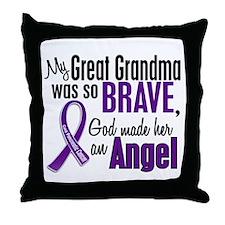 Angel 1 Pancreatic Cancer Throw Pillow