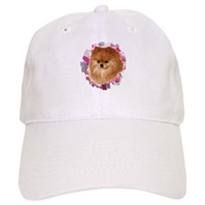 Pomeranian head dog art Baseball Cap