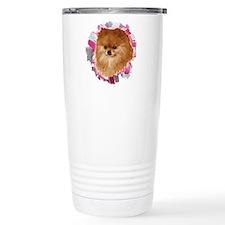 Pomeranian head dog art Travel Mug