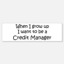 Grow Up Credit Manager Bumper Bumper Bumper Sticker