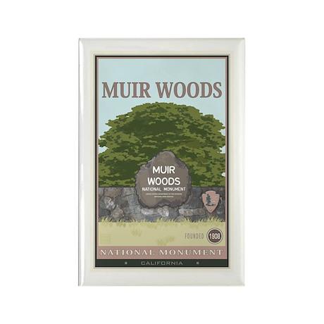 Muir Woods 2 Rectangle Magnet