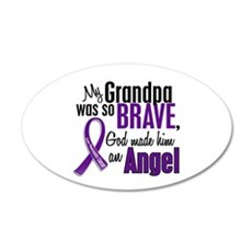 Angel 1 Pancreatic Cancer 22x14 Oval Wall Peel
