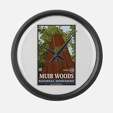 Muir Woods 3 Large Wall Clock