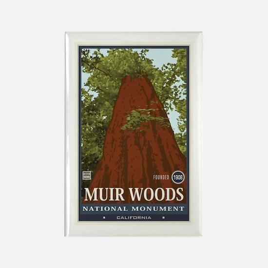 Muir Woods 3 Rectangle Magnet