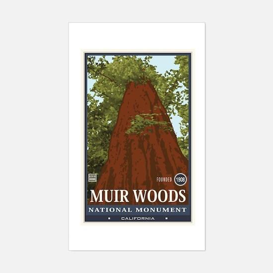 Muir Woods 3 Sticker (Rectangle)