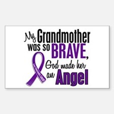 Angel 1 Pancreatic Cancer Sticker (Rectangle)