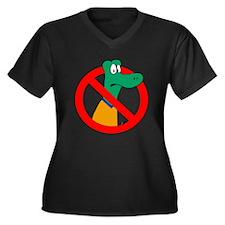 Anti-Gators Women's Plus Size V-Neck Dark T-Shirt