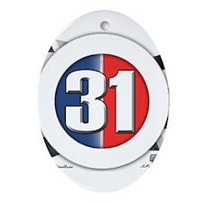 31 Cars Logo Ornament (Oval)