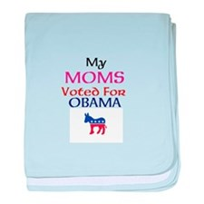 My moms voted for Obama baby blanket