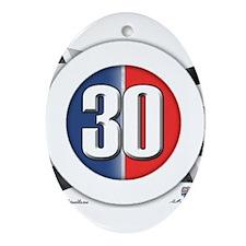 30 Cars logo Ornament (Oval)