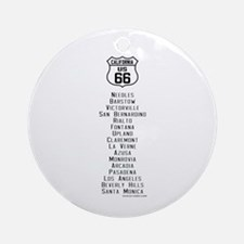 US Route 66 California Cities Ornament (Round)