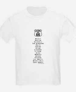 US Route 66 California Cities T-Shirt